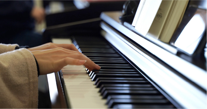 ピアノ学修の風景